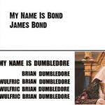 Mi nombre es Dumbledore, Albus Percival Wulfric Brian Dumbledore
