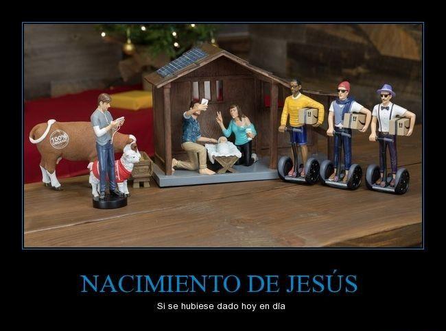 Nacimiento de Jesús si hubiese sido hoy en día