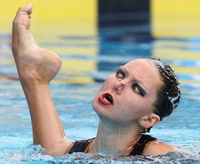 Cosas que pasan en natación sincronizada