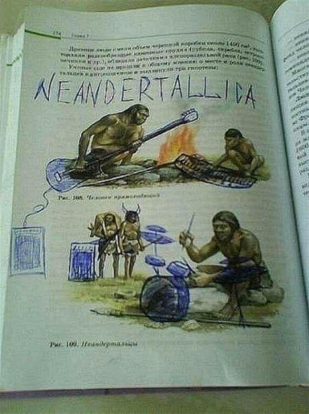 neandertallica cuando te aburres en clase