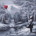 Niña con globo en forma de corazón (Banksy)