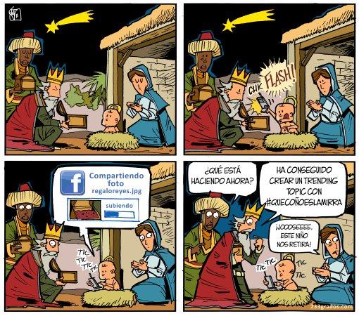 Niño Jesús con las nuevas tecnologías