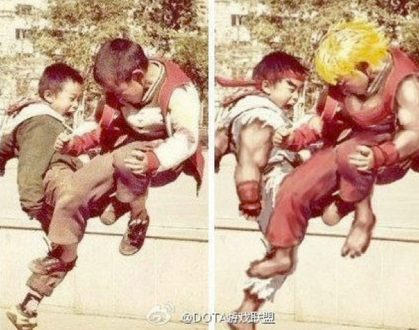 Niños Street Fighter