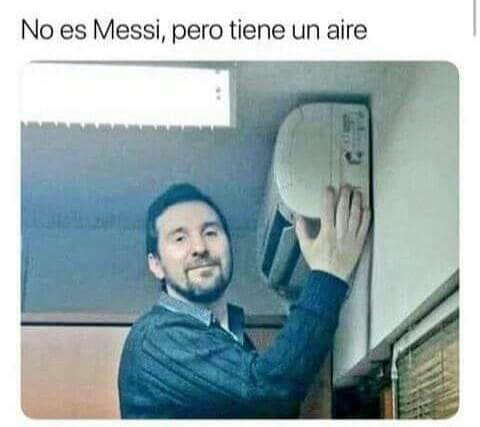 No es Messi, pero tiene un aire
