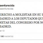 No hay derecho a molestar en su propia casa de Madrid a los diputados que cobran dietas del congreso por no tener casa en Madrid