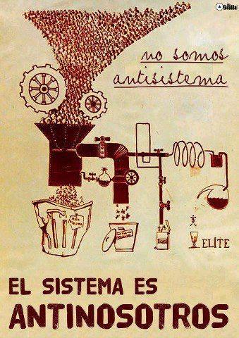 No somos antisistema, el sistema es antinosotros
