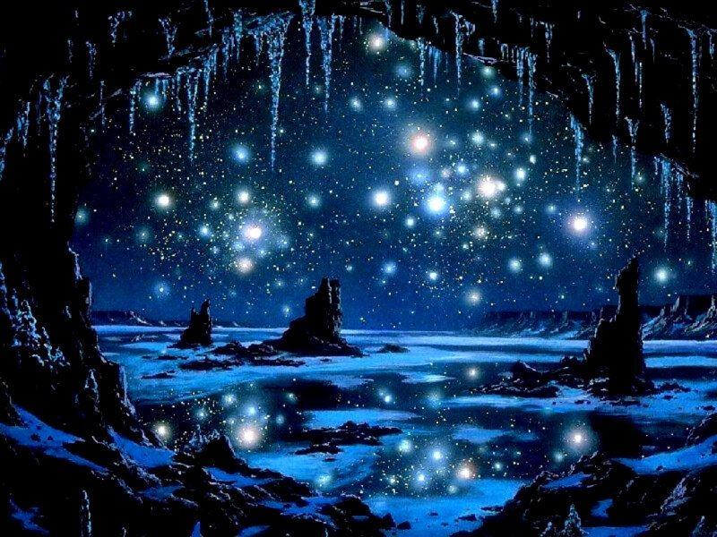 Dibujo noche estrellada