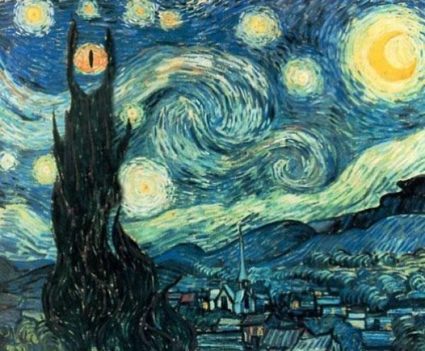 Noche estrellada de Van Gogh - Mordor style