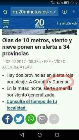 noticia provincias en alerta roja por oleaje coruña y ourense