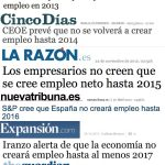 Cuándo en España se volverá a crear empleo según los medios