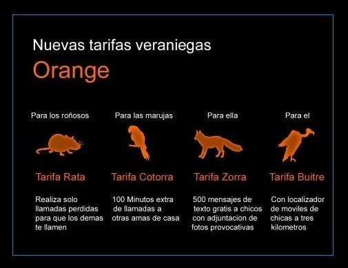 Nuevas tarifas veraniegas Orange