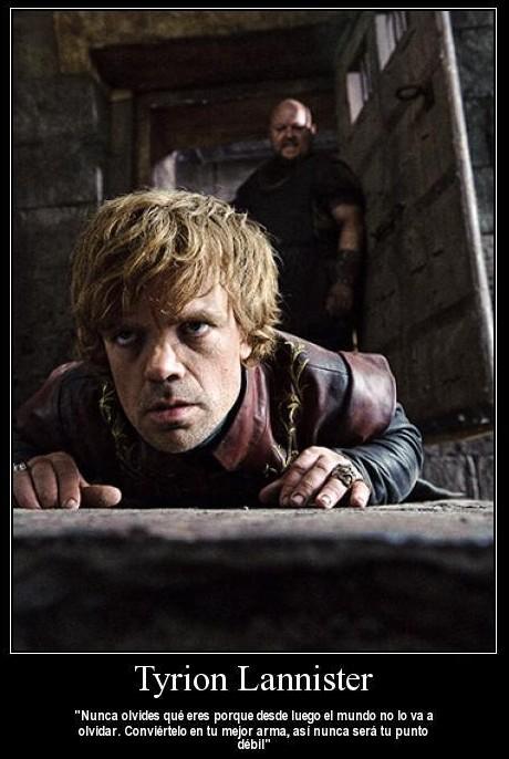 Tyrion lannister: Convierte tu punto débil en tu mejor arma