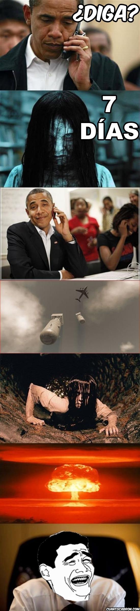 Obama vs niña de The Ring