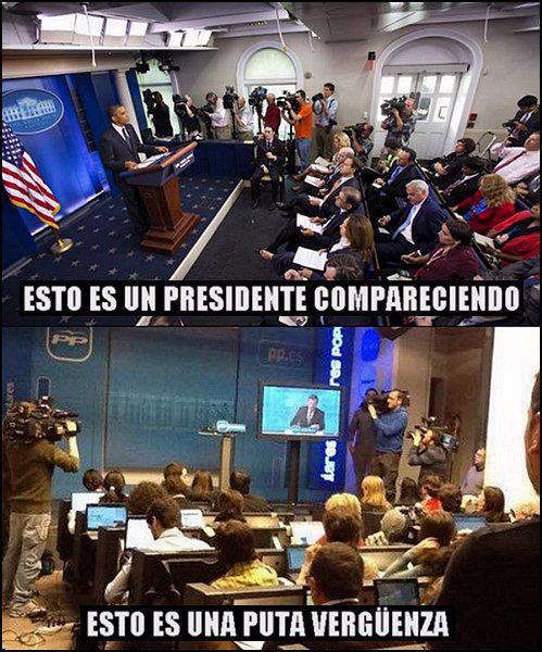 Presidente compareciendo / Puta vergüenza