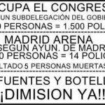 Número de policías en Ocupa el Congreso y en el Madrid Arena