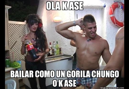 Oka Ke Ase - Bailar como un gorila chungo o ke ase (Gandía Shore)