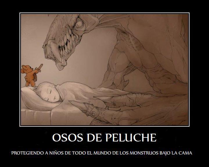 Osos de peluche - protegiendo a los niños de todo el mundo de los monstruos bajo la cama