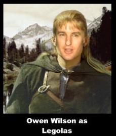 Owen Wilson as Legolas