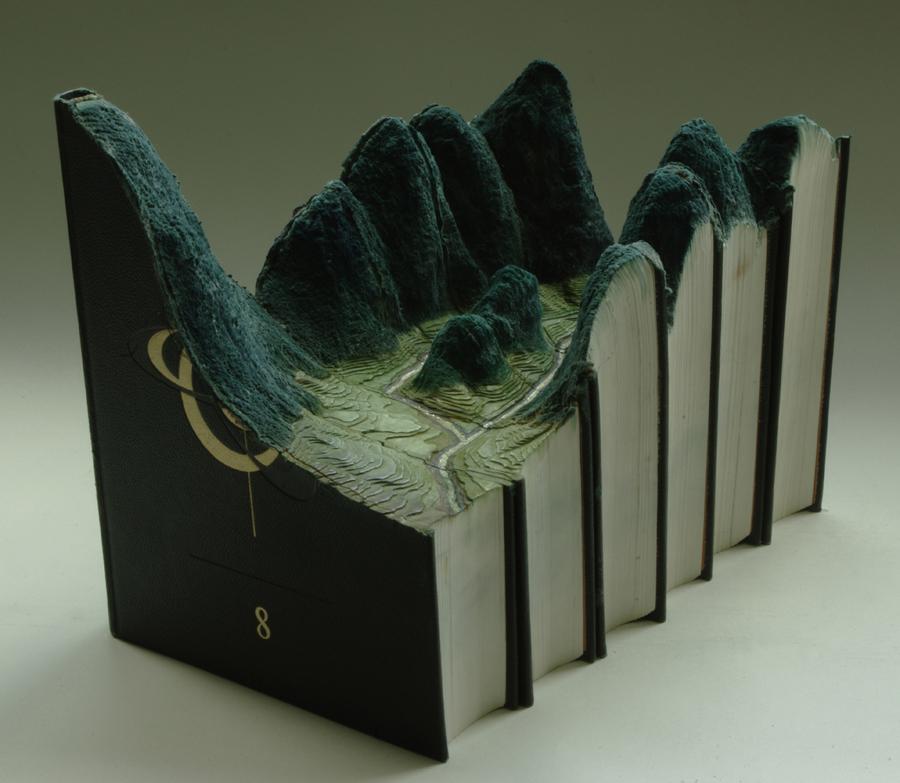 Paisaje sobre libros