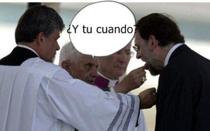La pregunta del papa Benedicto a Rajoy