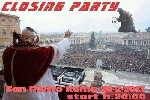 Papa dj in San Pietro (Roma)