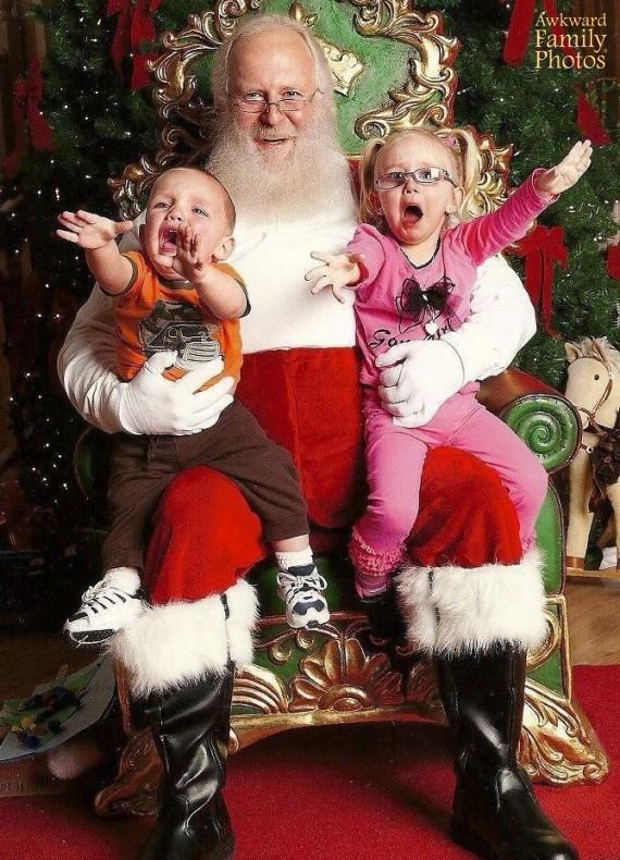 A algunos niños no les gusta Papá Noel