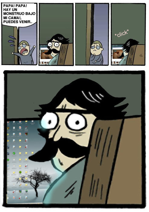Padre pillado