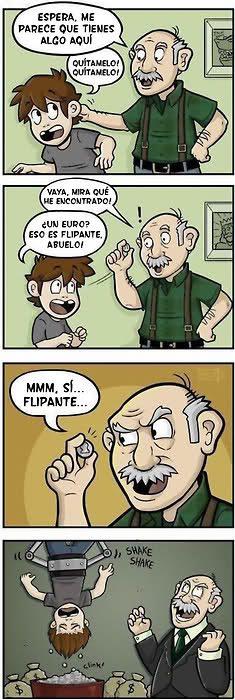 El abuelo avaricioso
