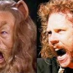 Parecidos razonables: James Hetfield (Metallica) y león cobarde (Mago de Oz)