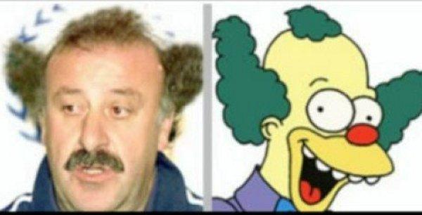 parecidos razonables - vicente del bosque y krusty el payaso