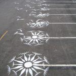 Arte Urbano: parking diente de león
