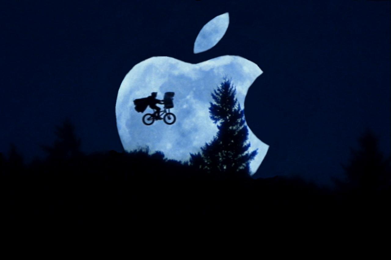 parodia imagen et manzana apple