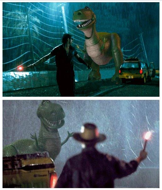 Parque Jurásico y Toy Story - Crossover