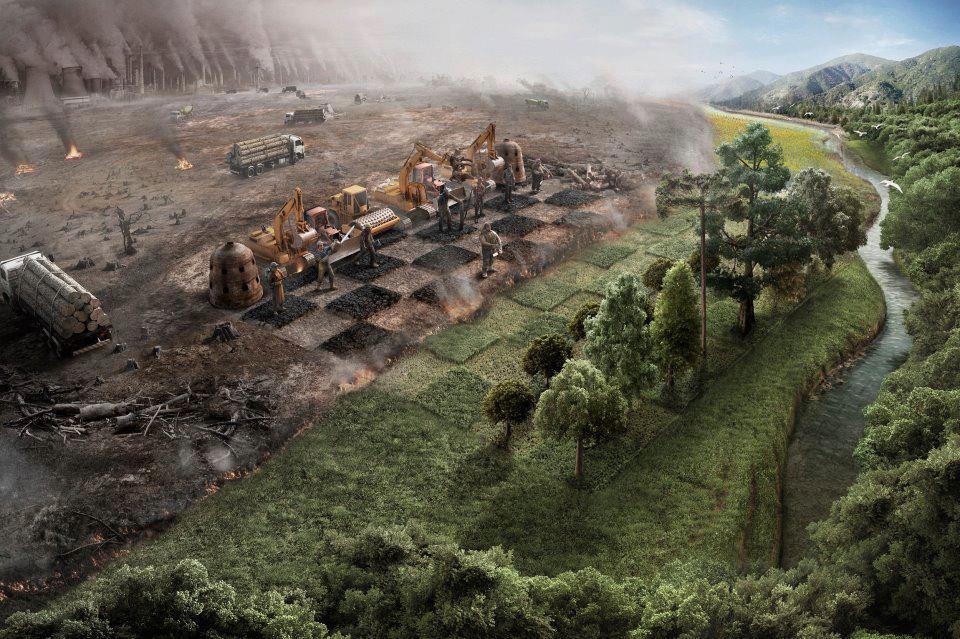 Partida de ajedrez - Naturaleza vs industria