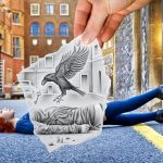 Pencil vs camera, por Ben Heine y Caroline Madison