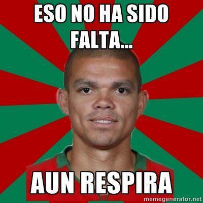 Pepe Real Madrid - Eso no ha sido falta, aún respira