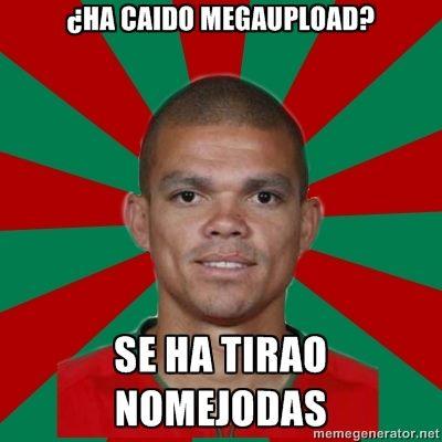 Pepe Real Madrid - ¿Ha caído Megaupload?