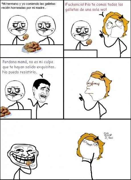 Las galletas exquisitas, mamá