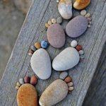 Pies con piedras
