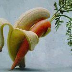 Plátano y zanahoria bailando