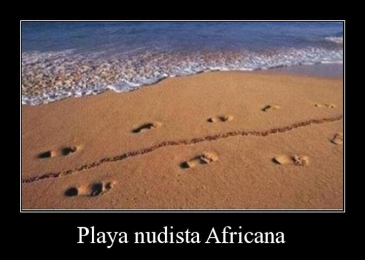 Playa nudista africana