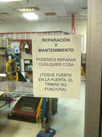 Podemos reparar (casi) cualquier cosa
