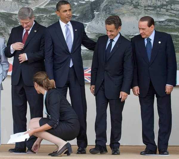 Políticos trabajando