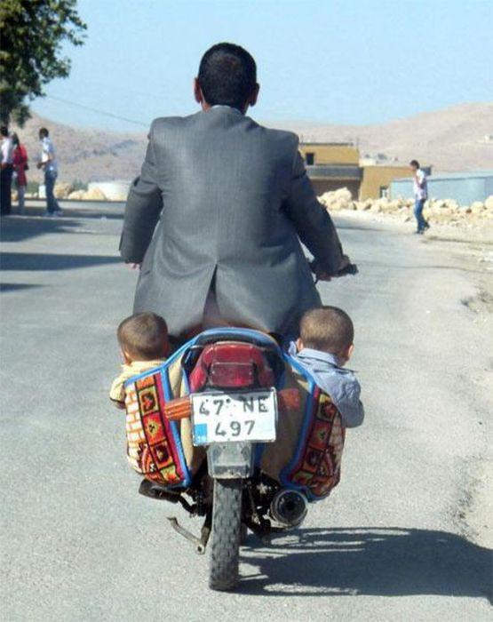 Porta-bebés para moto