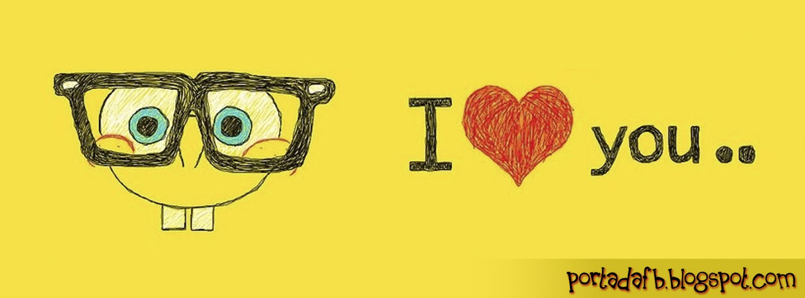 Portada Facebook - Bob Esponja - I love you