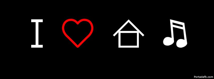 Portada Facebook - I love house music