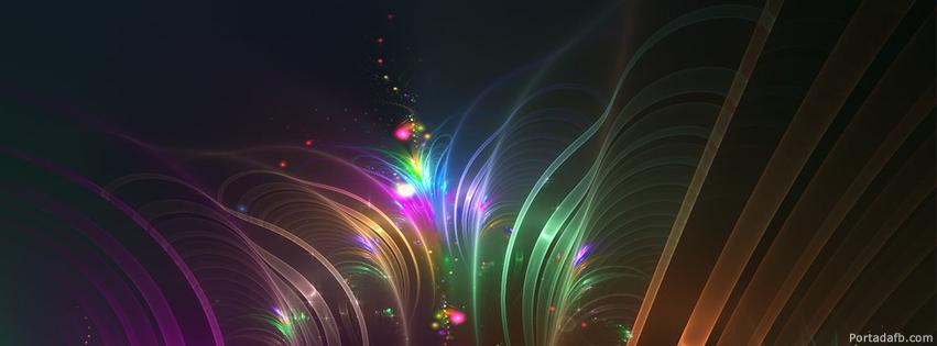 Portada Facebook - Luces de colores