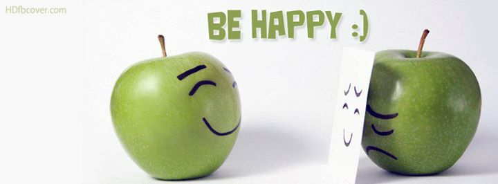 portada facebook manzanas be happy