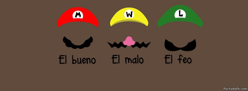 Portada Facebook - Mario Bros. El bueno, el malo y el feo