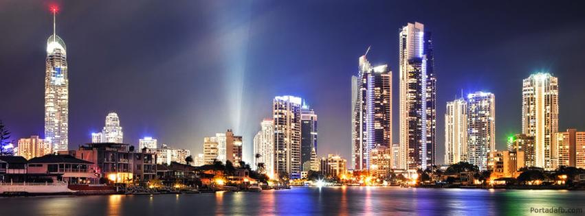Portada Facebook - Rascacielos de noche